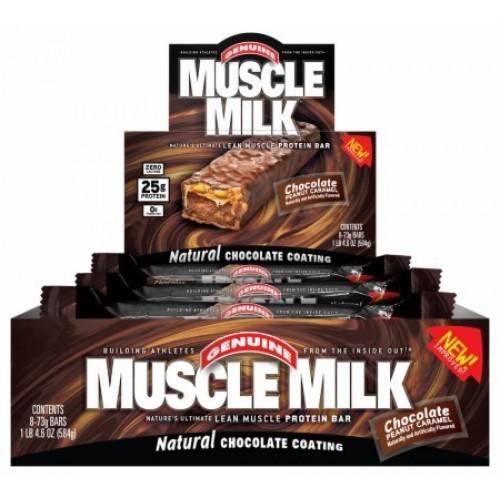 Muscle Milk Bar - 8 x 73g - Schokolade-Erdnuss-...