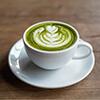 Matcha Latte mit fettarmer Milch